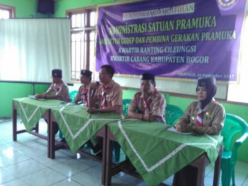 Kegiatan Pendidikan dan Latihan Administrasi Satuan Pramuka Kwaran Cileungsi