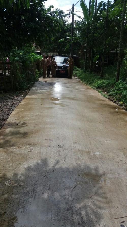 Monitoring Infrastuktur dari Dana Desa di Desa Cileungsi Kidul