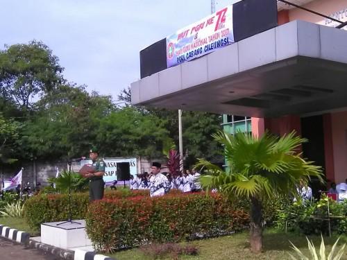 Upacara Peringatan HUT PGRI ke-72 dan Hari Guru Nasional Tahun 2017 PGRI Cabang Cileungsi
