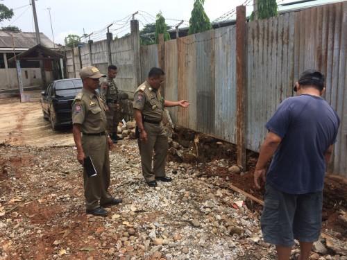 Kegiatan Peninjauan Lokasi Banjir di Perumahan Limus Pratama Regency Desa Limusnunggal