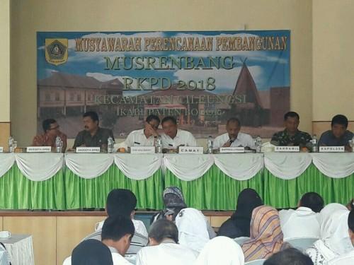 Musrenbang RKPD Kabupaten Bogor Tahun 2018 di Kecamatan Cileungsi